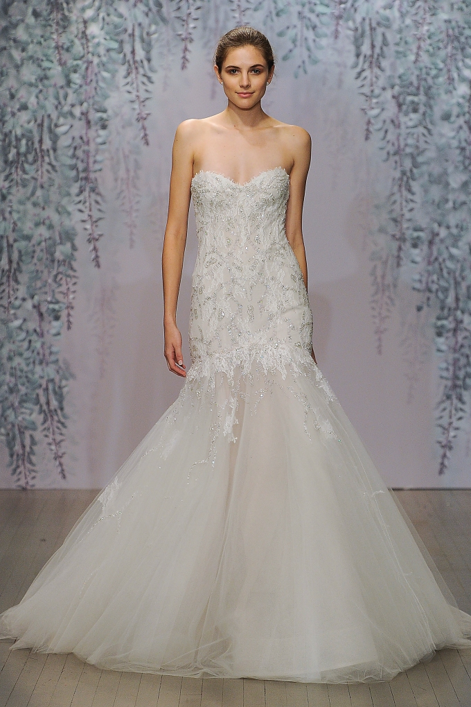 Monique Lhuillier Bridal, Fall 2016, October 2015, INTERNAL USE ONLY